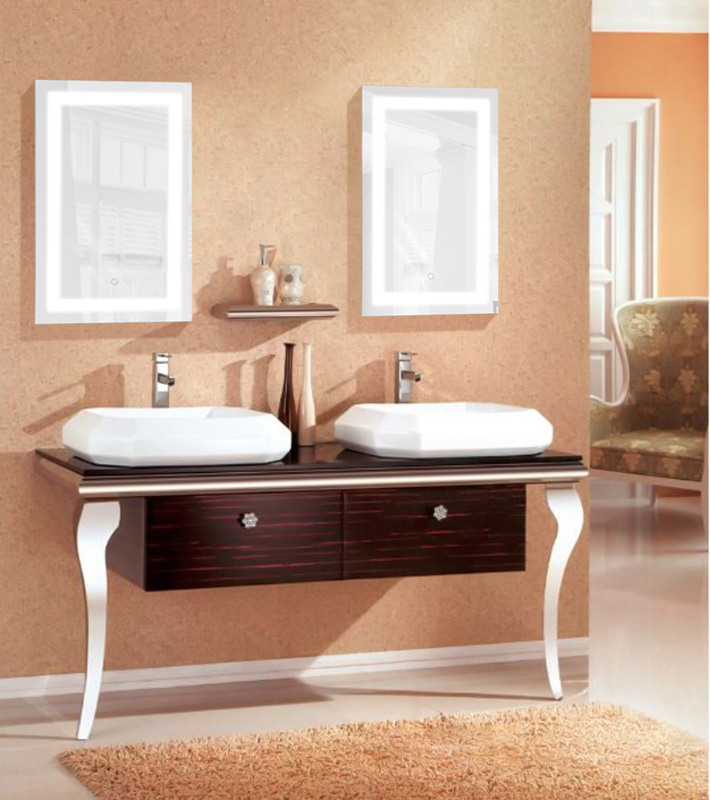 Led Bathroom Mirror 18 X 30 Lighted Wall Mount Vanity