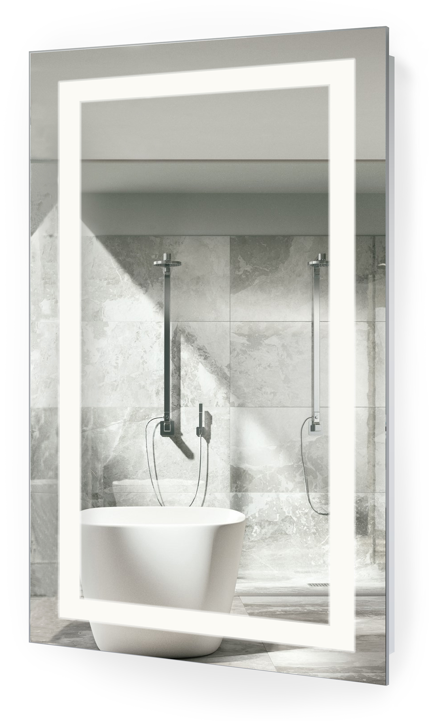 Bathroom Mirror Defogger - The icon bathroom mirror has simple aesthetic styling that blends function with sophistication you can hang the lighted mirror vertically or horizontally