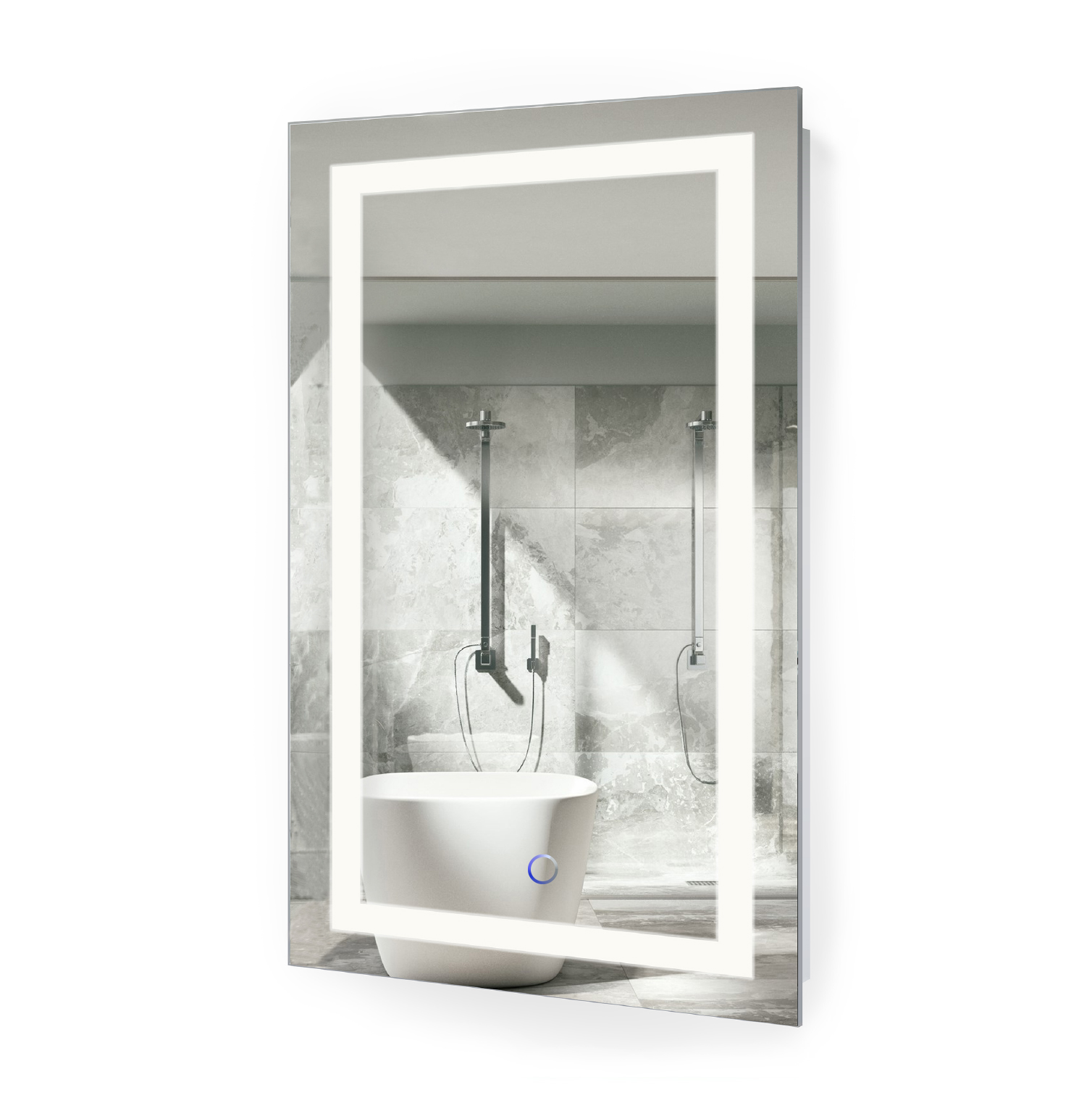 Lighted Bathroom Wall Mirror Large: LED Vanity Mirror 20″x32″ Bathroom Lighted Mirror With
