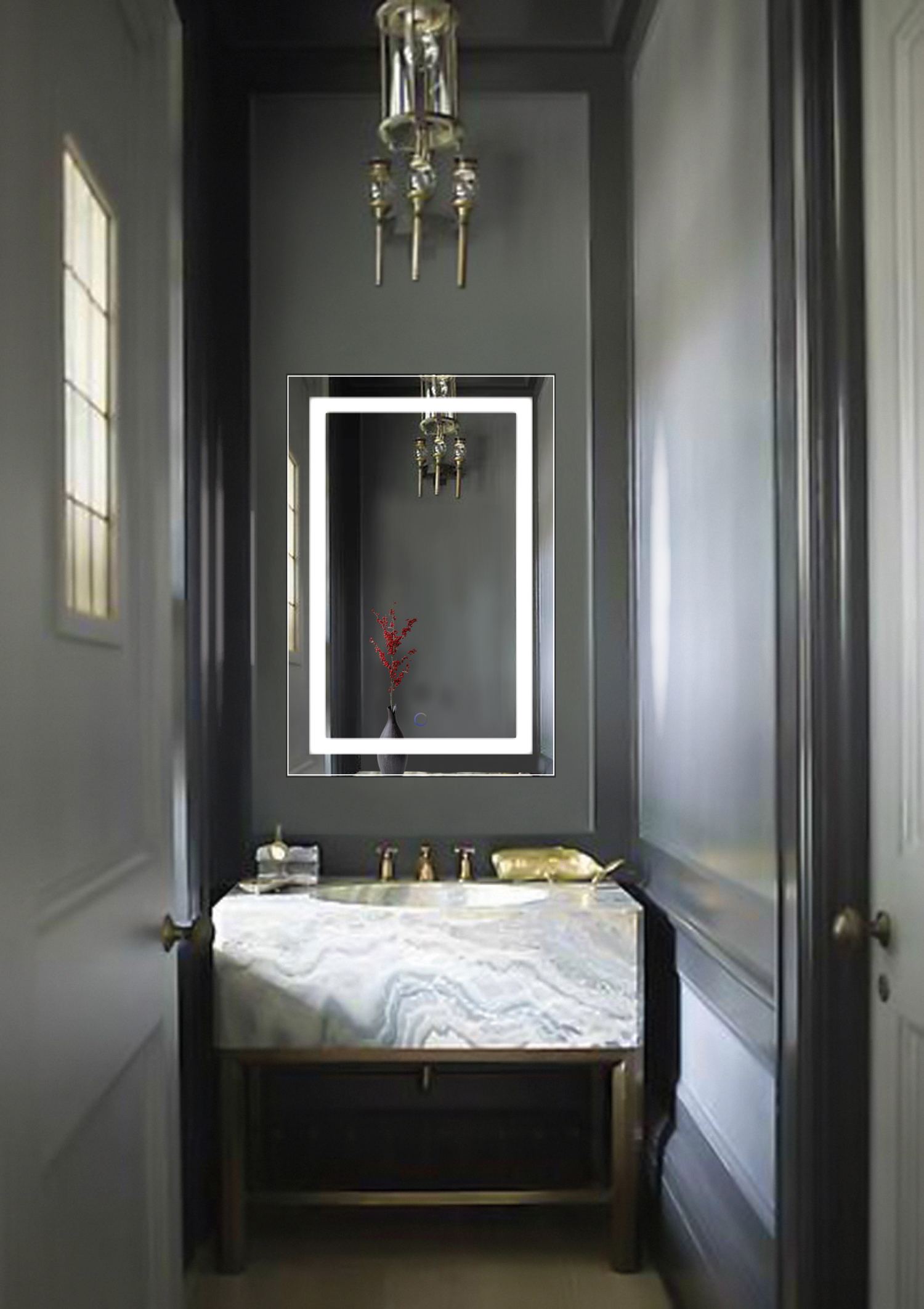 24 X36 Bathroom Mirror With Dimmer Defogger Large Img Small