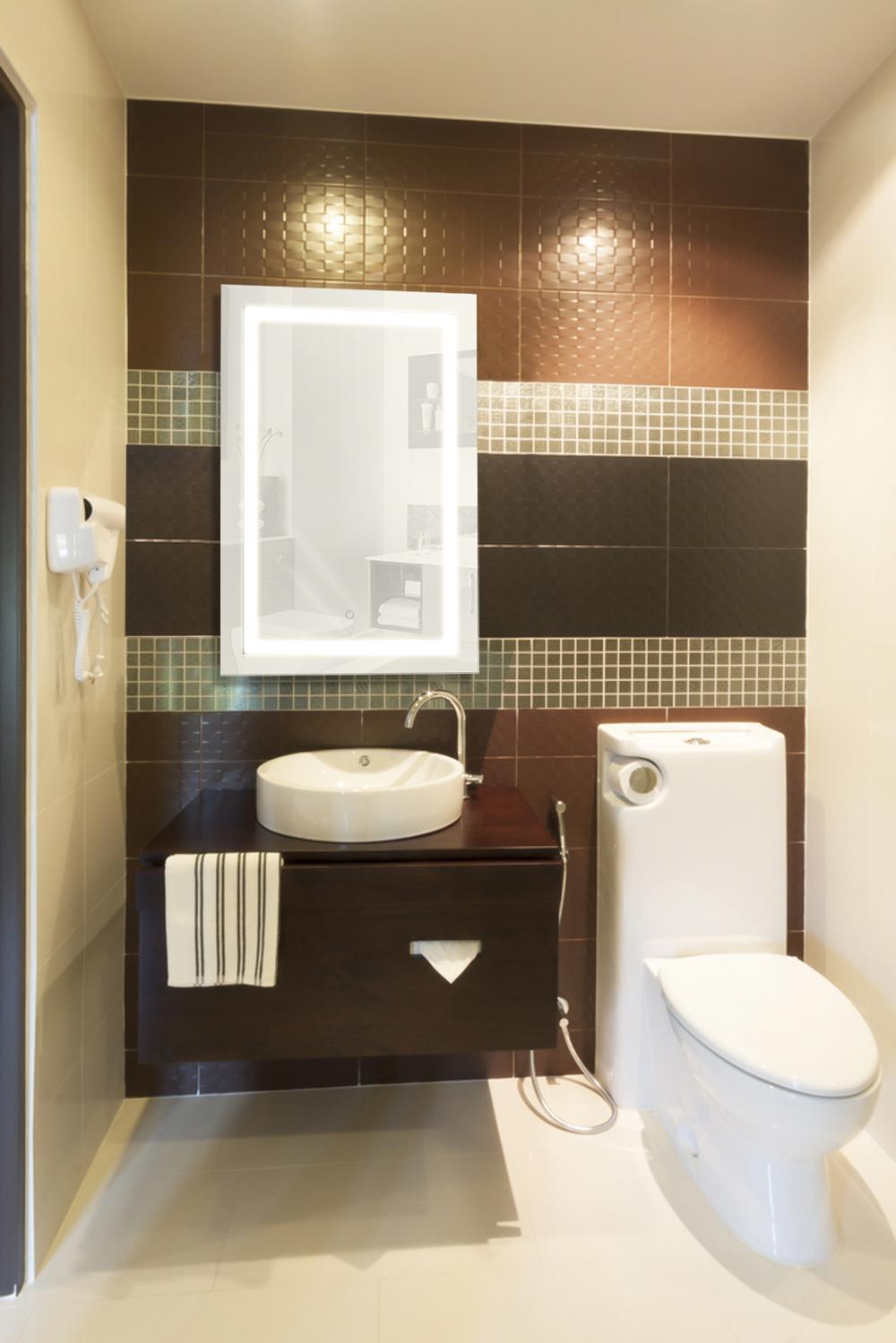LED Bathroom Mirror 24 X 36 Wall Mount Vertical Or Horizontal Lighted Vanit
