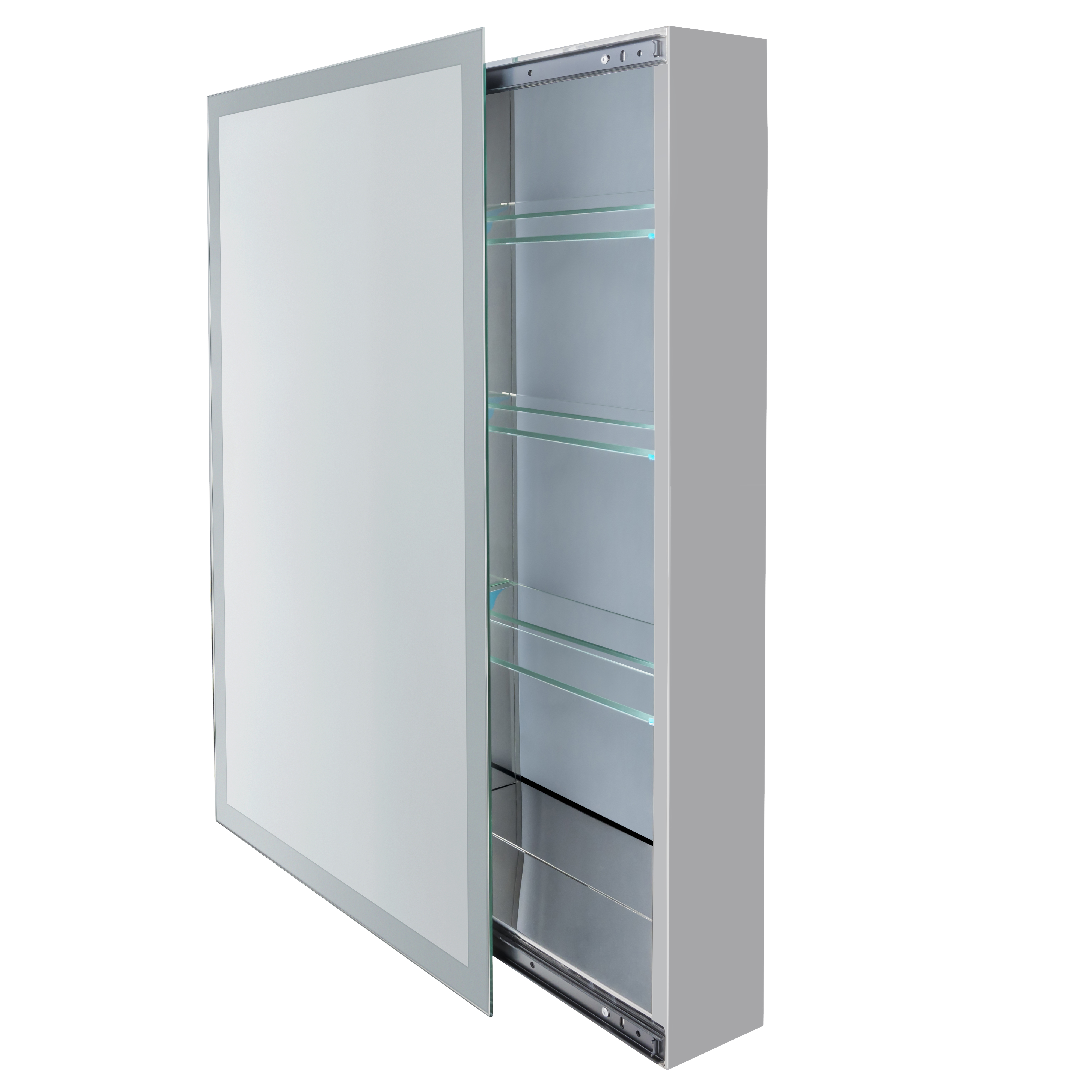 30 X 30 Medicine Cabinet Bathroom Sliding Mirror Medicine Cabinet W Frosted Glass Border 18