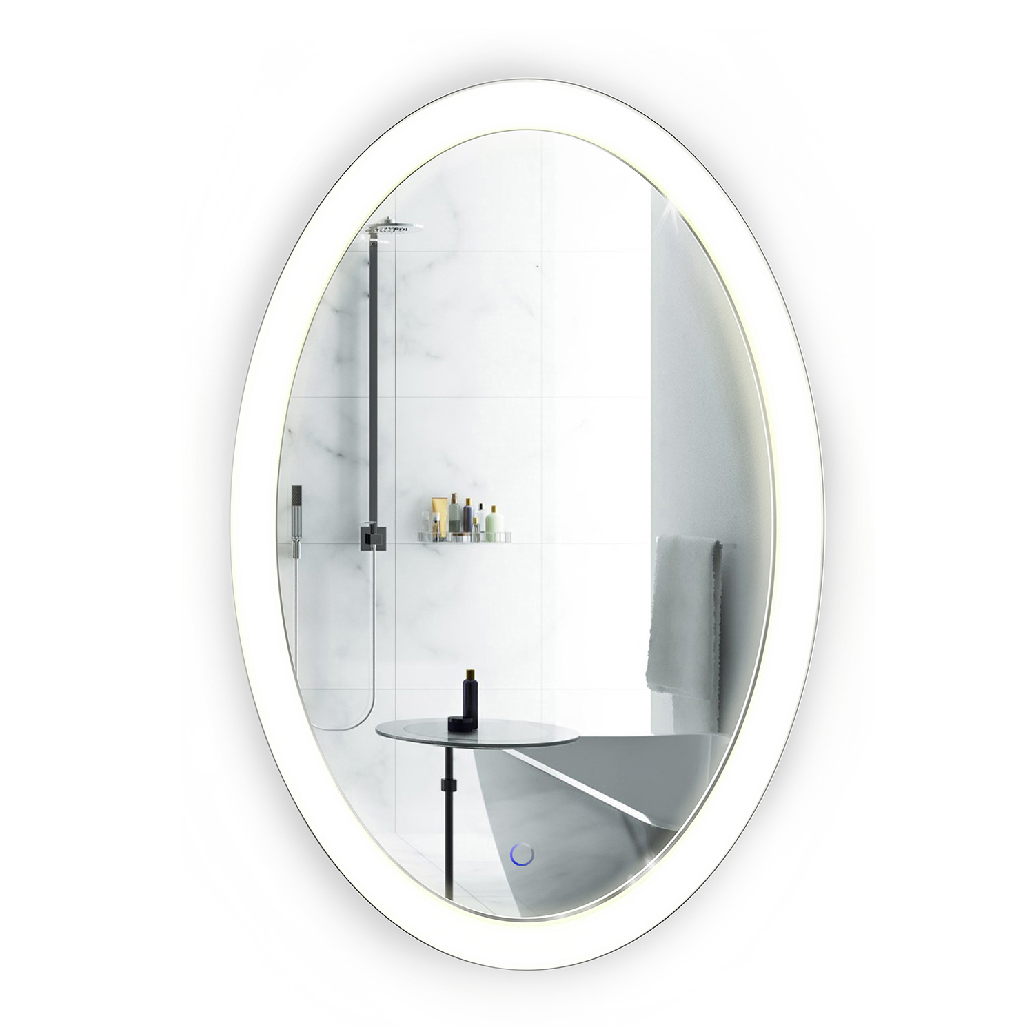 Led 20 x30 oval bathroom mirror lighted with dimmer for Mirror 20 x 30