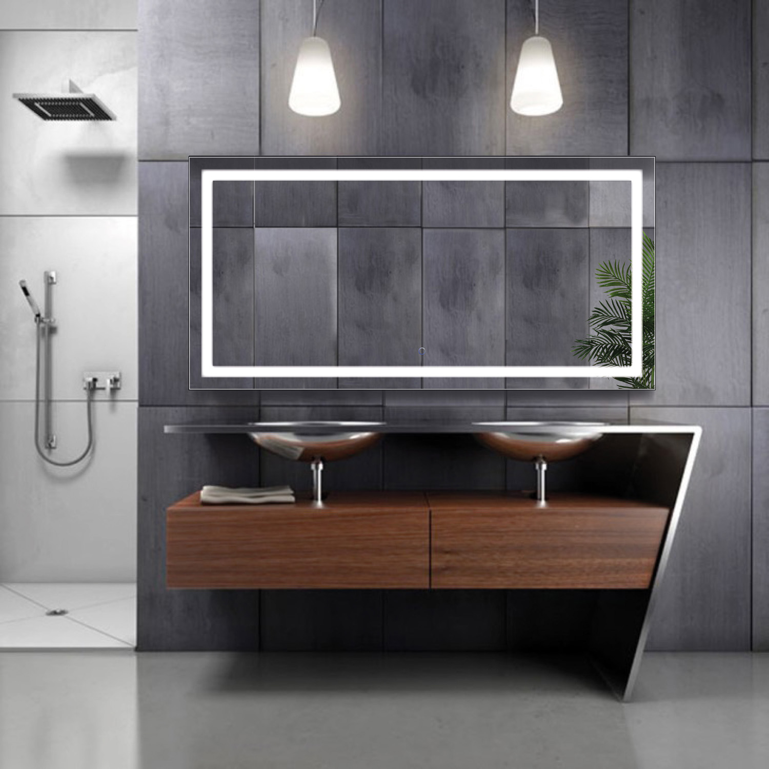 Bathroom Mirrors 60 X 30 large 60 inch x 30 inch led bathroom mirror lighted vanity mirror