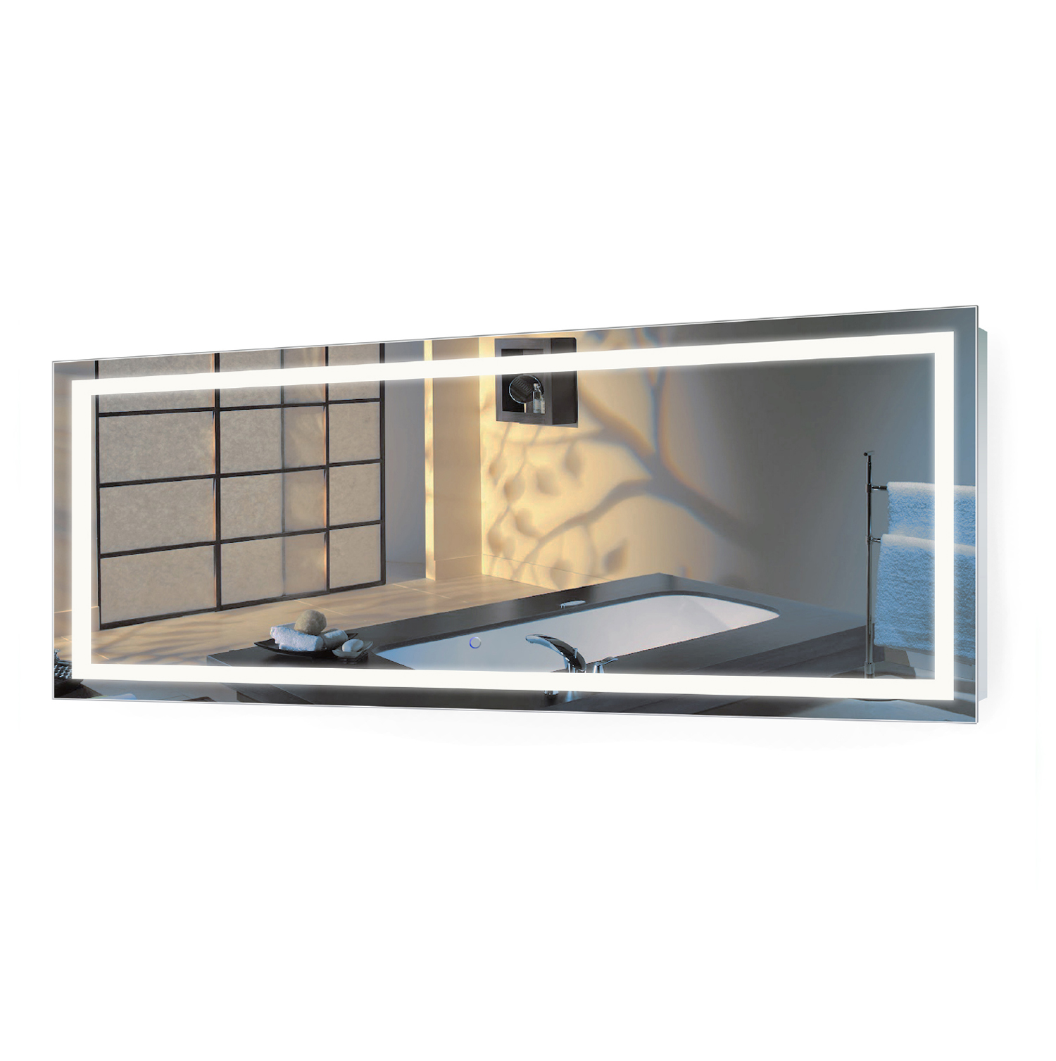 Icon 72″ X 30″ LED Bathroom Mirror w/ Dimmer & Defogger | Large Lighted Vanity Mirror