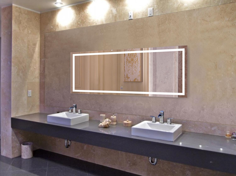 Large 72 Inch X 30 Inch LED Bathroom Mirror