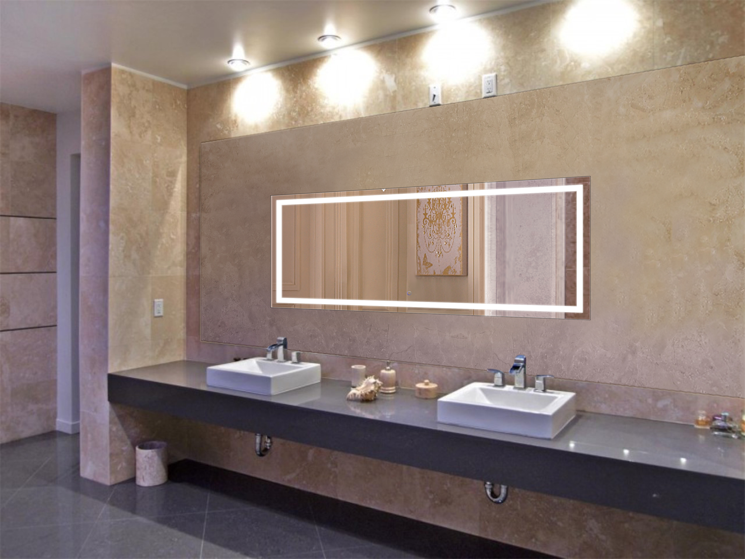 Lighted Mirror Bathroom Buy Bathroom Led Lighted Mirrors Backlit Mirrors Decoraport Usa Led: Icon 72″ X 30″ LED Bathroom Mirror W/ Dimmer & Defogger