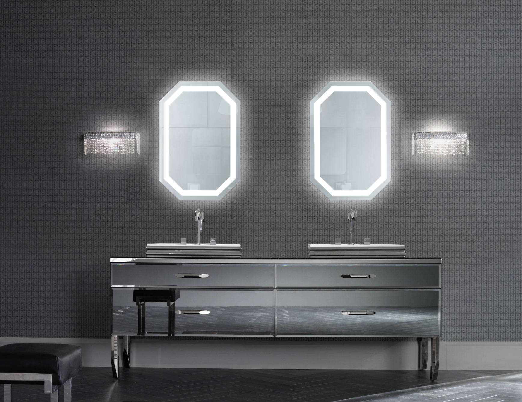 Lighted Mirror Bathroom Buy Bathroom Led Lighted Mirrors Backlit Mirrors Decoraport Usa Led: Tudor 20″x 30″ LED Bathroom Mirror W/ Dimmer & Defogger