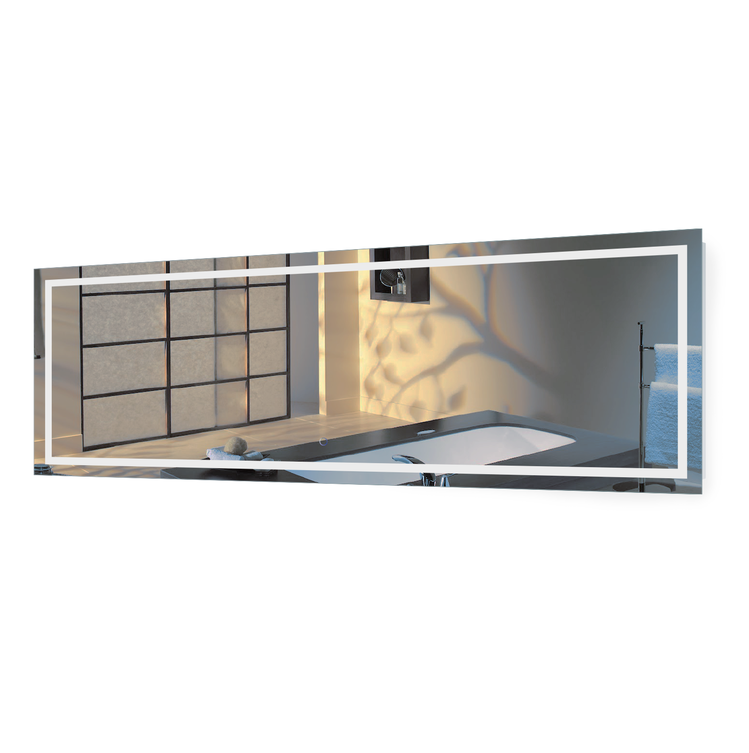 Lighted Bathroom Wall Mirror Large: Large 84 Inch X 30 Inch LED Bathroom Mirror