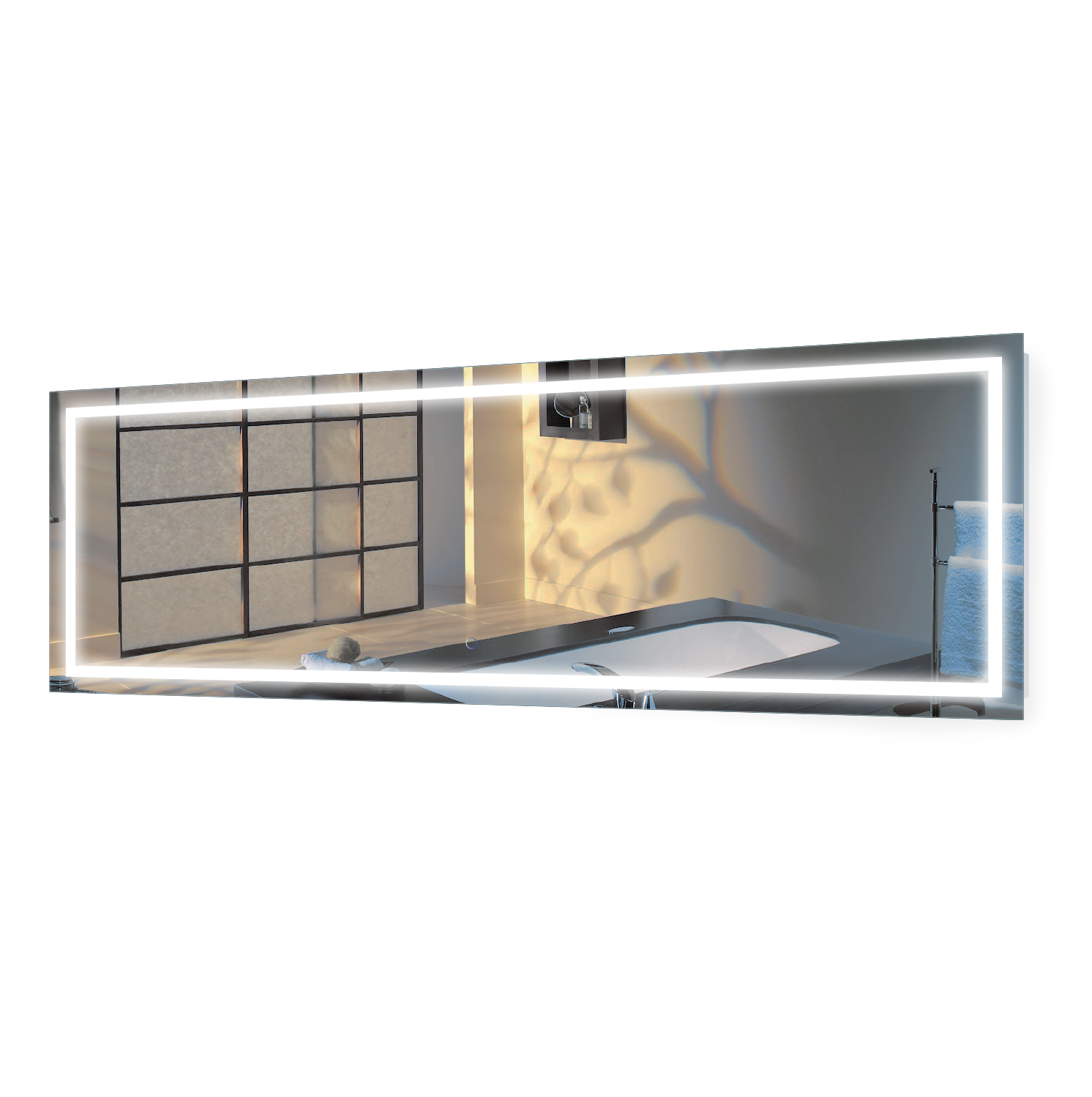 Large 84 Inch X 30 Inch Led Bathroom Mirror Lighted Vanity Mirror Includes Dimmer Defogger