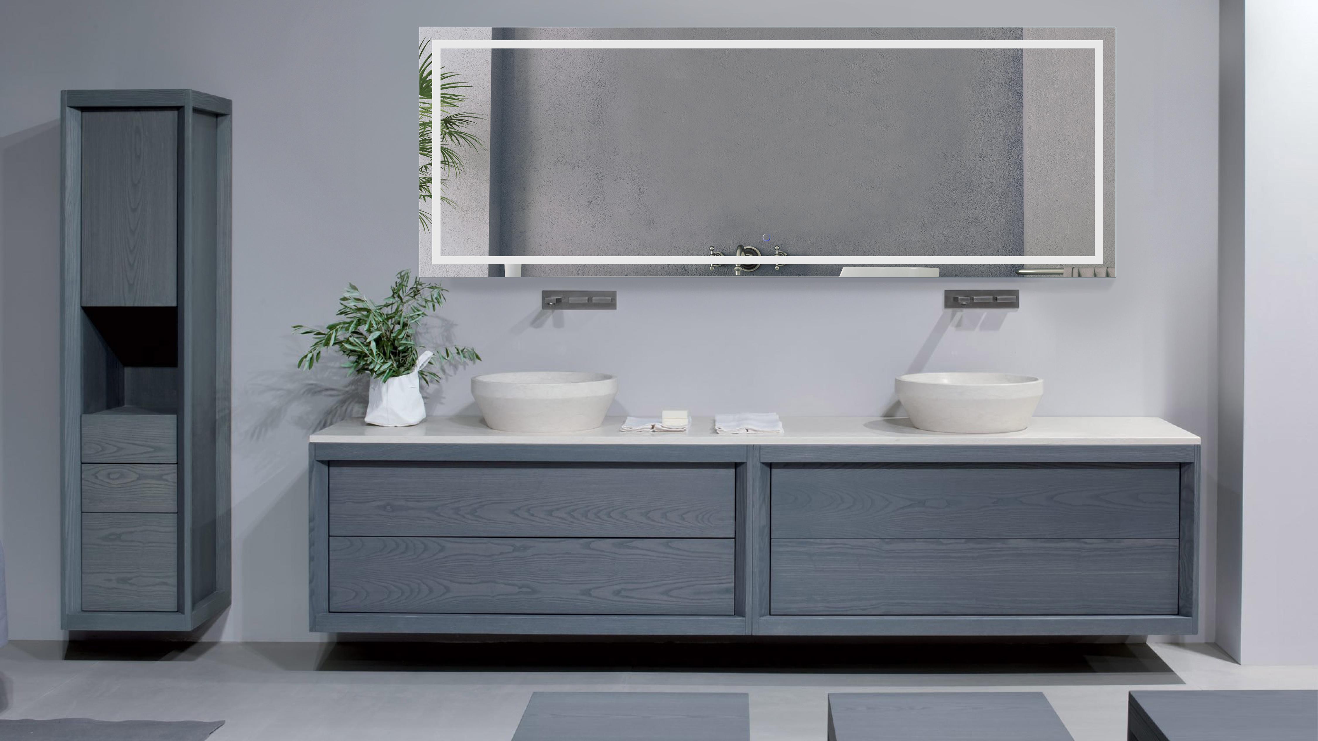 84 Inch X 30 Inch LED Bathroom Mirror