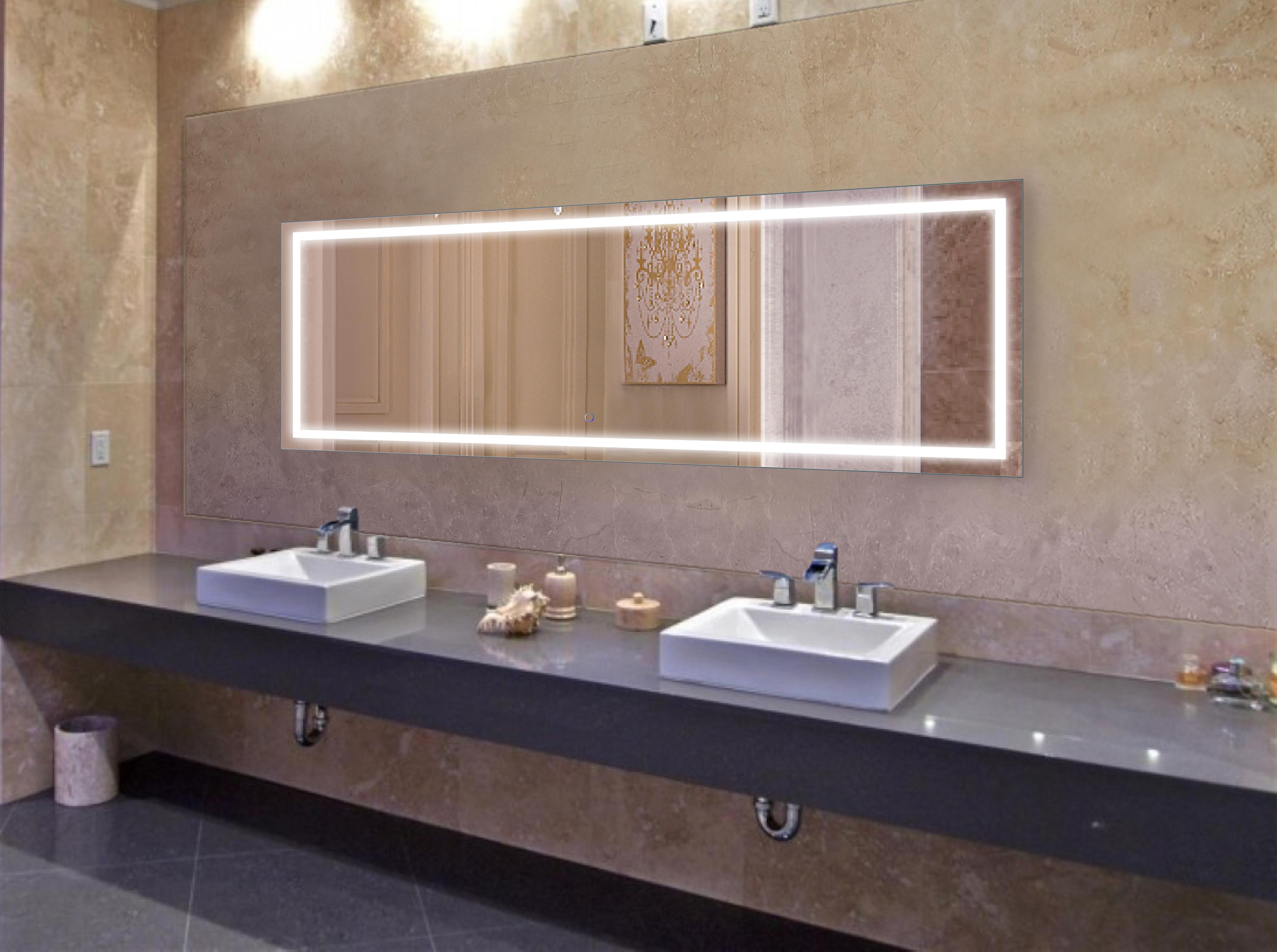 Large 84 Inch X 30 LED Bathroom Mirror