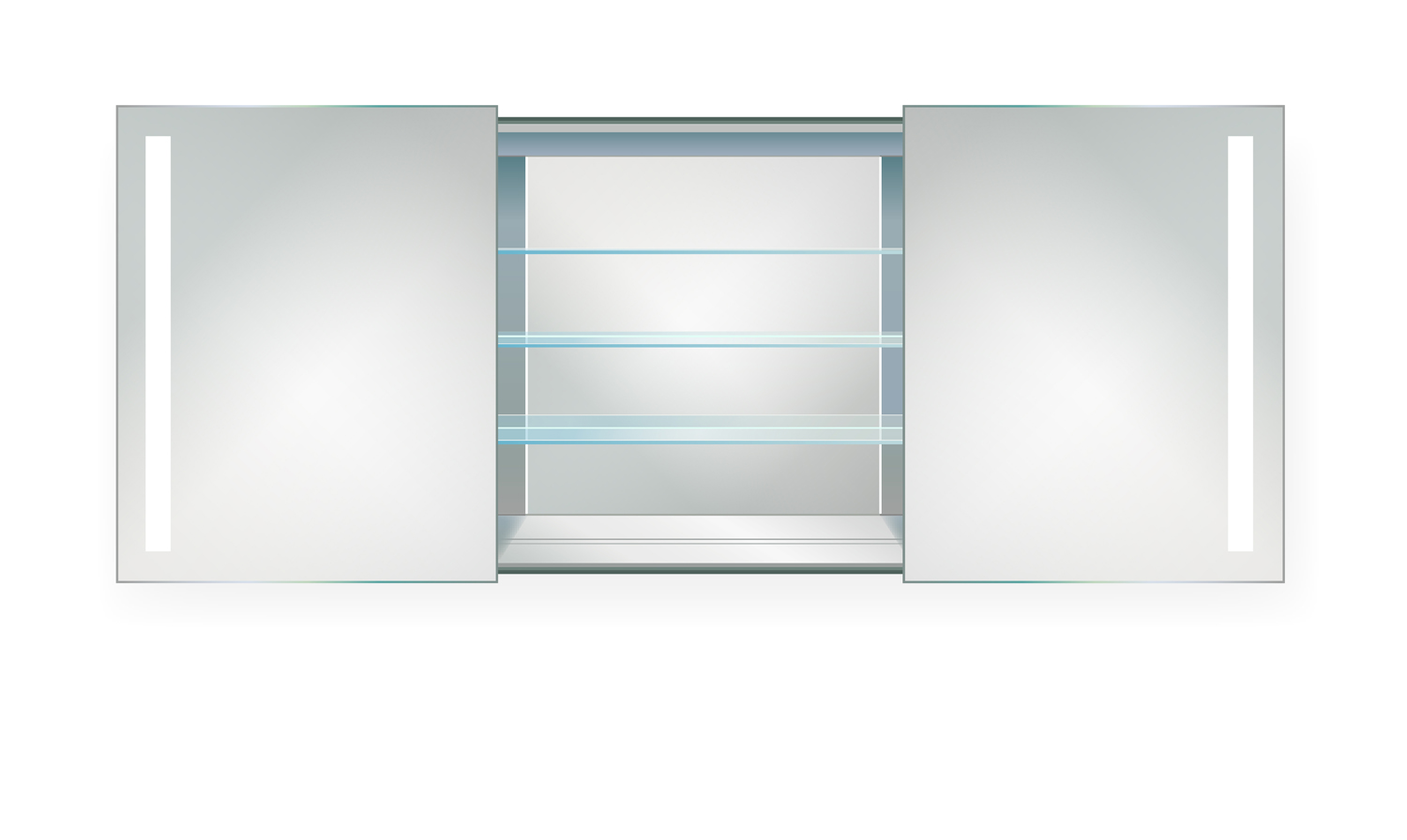 Rolls48 Led Medicine Cabinet 48 Inch X 30 Inch Lighted 2 Sliding Mirror Doors Amp Defogger 3
