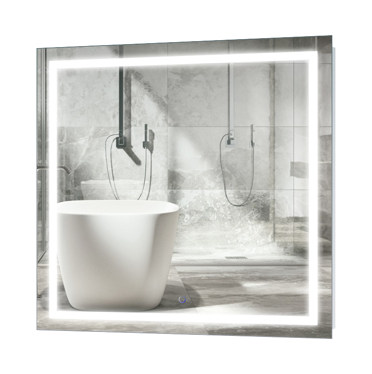Lighted Bathroom Wall Mirror Large: Icon 36″ X 36″ LED Bathroom Mirror W/ Dimmer & Defogger