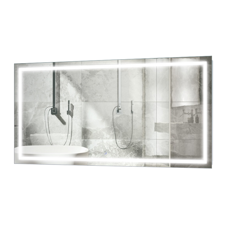 Icon 66″ X 36″ LED Bathroom Mirror  w/ Dimmer & Defogger | Large Lighted Vanity Mirror
