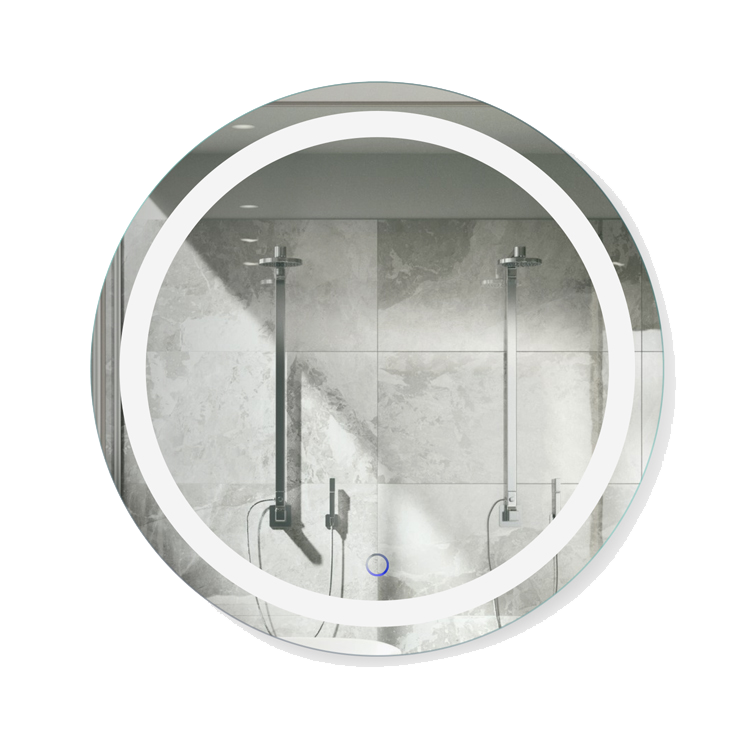 Icon Round 24″ x 24″ LED Bathroom Mirror w/ Dimmer & Defogger | Round Lighted Vanity Mirror