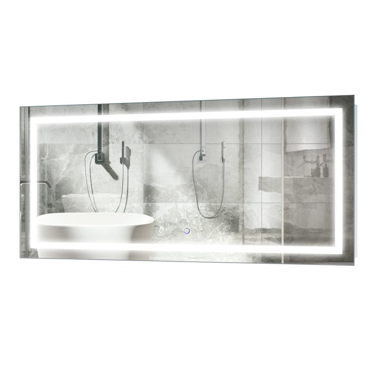 Icon 48″ X 24″  LED Bathroom Mirror  w/ Dimmer & Defogger |  Lighted Vanity Mirror